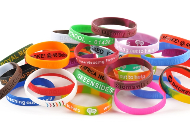 Silicone personalised wristbands