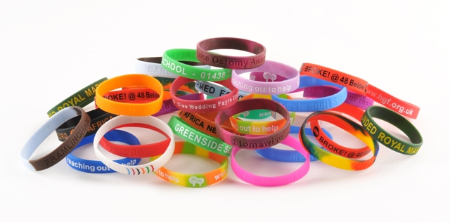 Various Silicone Charity Fundraising Wristbands