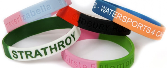 colour sectioned wristbands