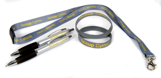 Branded Lanyards & Pen for 'Face Up Cymru'