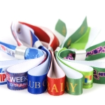 Printed fabric wristbands
