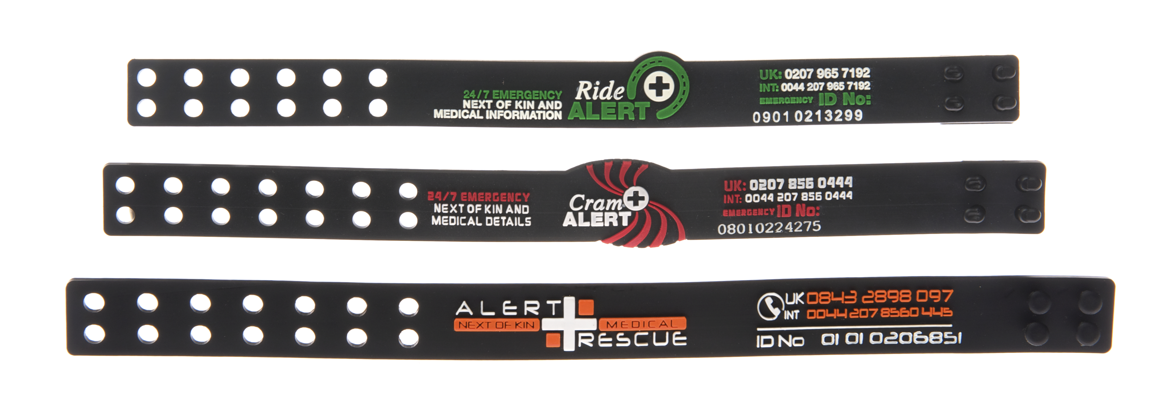 Bespoke PVC wristbands
