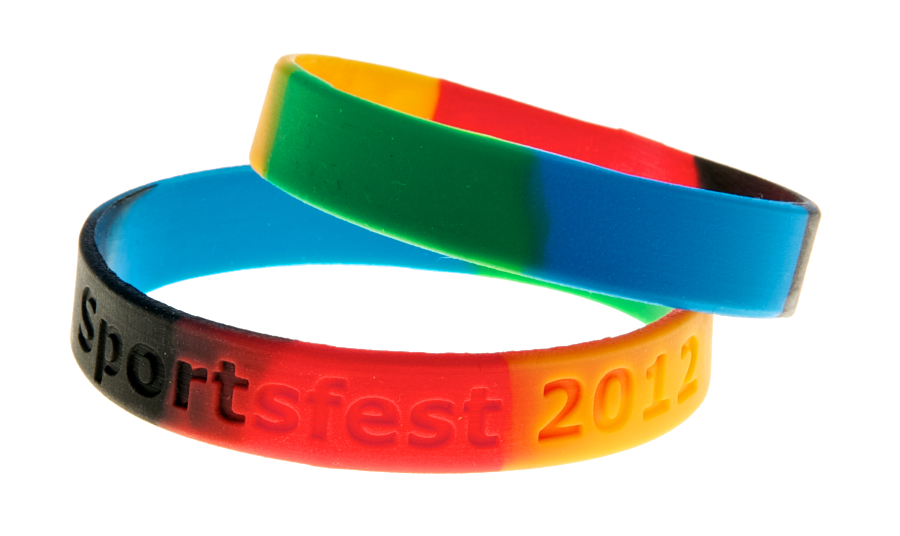sectioned Charity Wristbands