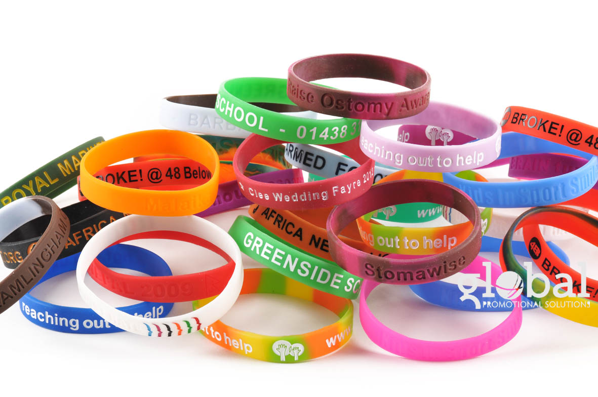 Silicone Wristbands & Bracelets for Personalisation