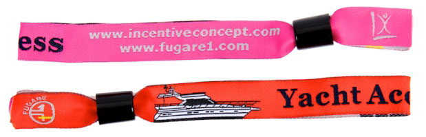 Custom Printed Fabric Wristband Examples