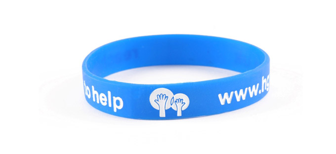 Debossed & Colour Filled silicone wristband