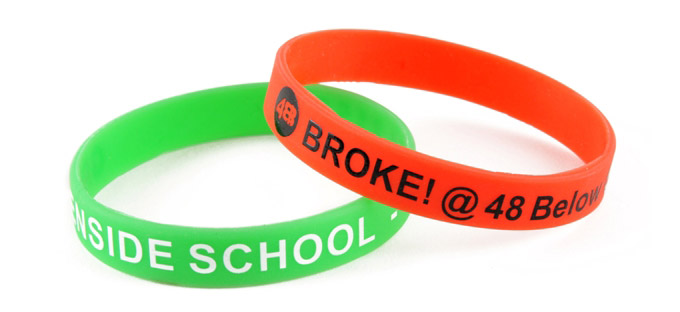 printed charity wristbands