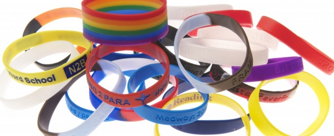plethora of charity wristbands