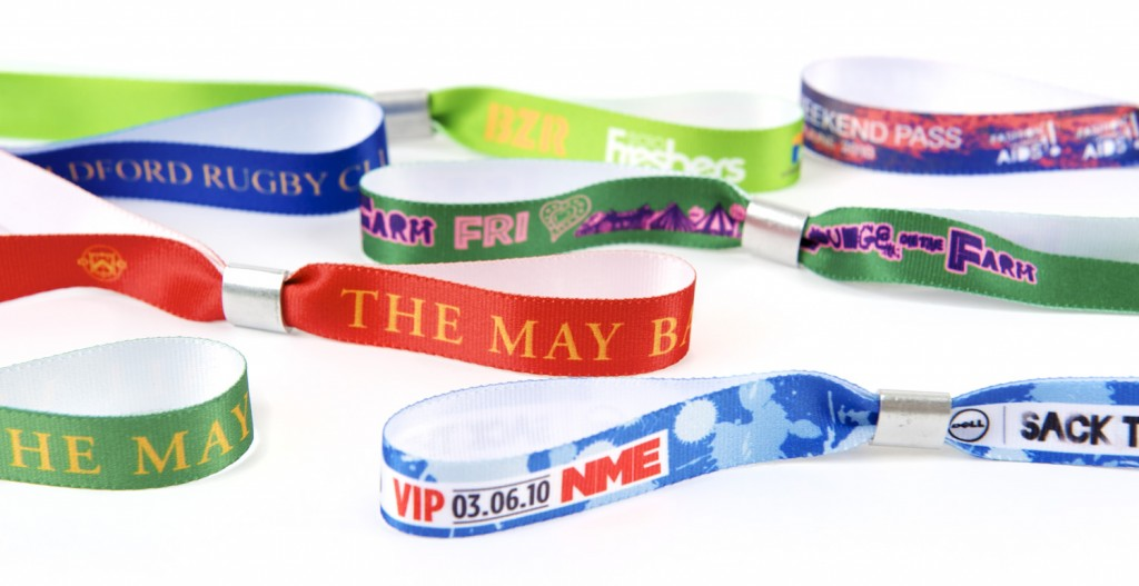 Examples of Fabric Printed Wristbands