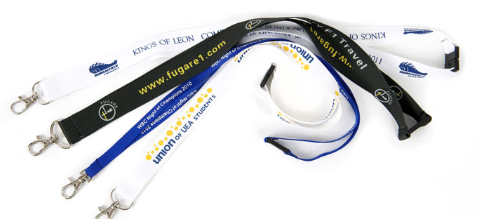 screen printed personalised lanyards
