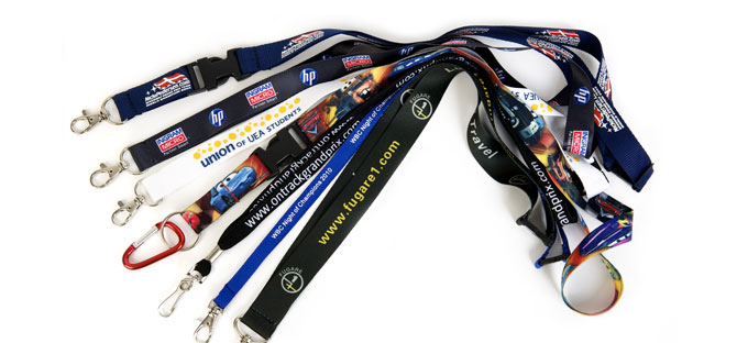 various personalised lanyards