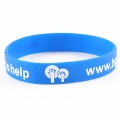 Blue White Debossed Colour Filled Wristbands