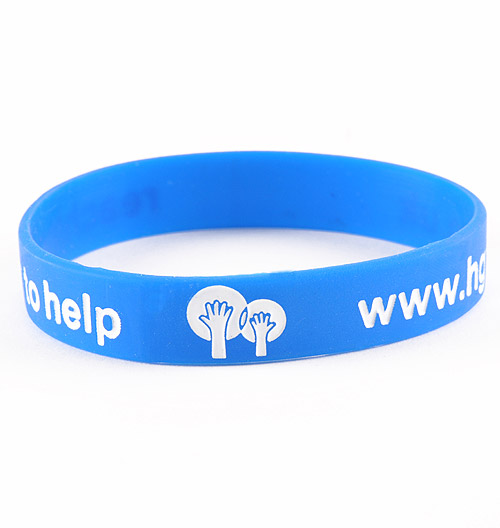 Color Filled Debossed Silicone Wristbands Design Online Today