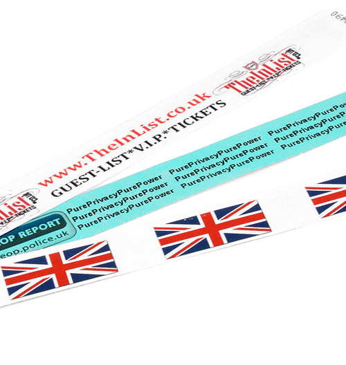Multi-Coloured Printed Tyvek Wristbands