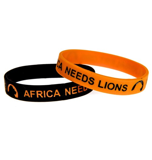 Africa Needs Lions colour filled debossed