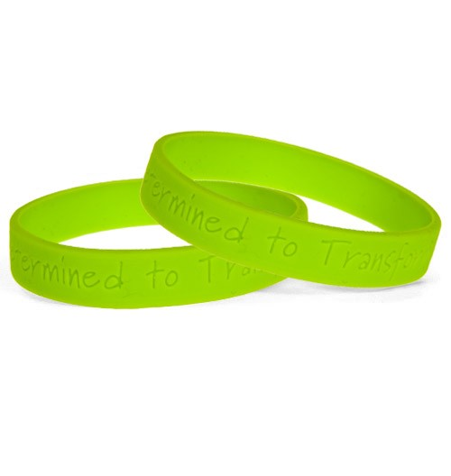 Debossed Silicone Wristbands 90