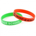 Single Colour Printed Silicone Wristbands