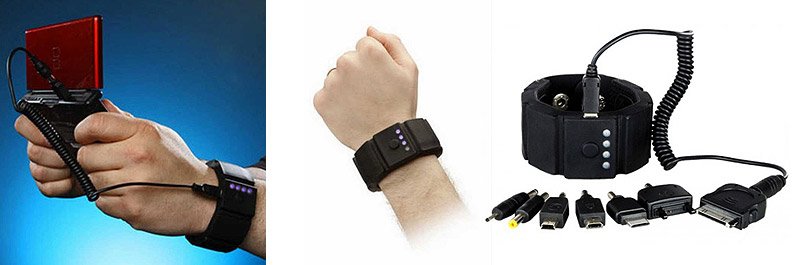 Gadget charging silicone wristband by TsirTech