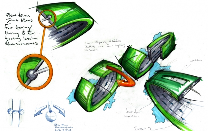 Gluco(M) Diabetes Wristband Design Concept
