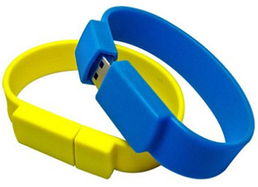 Silicone based USB Flash Drive Wristbands