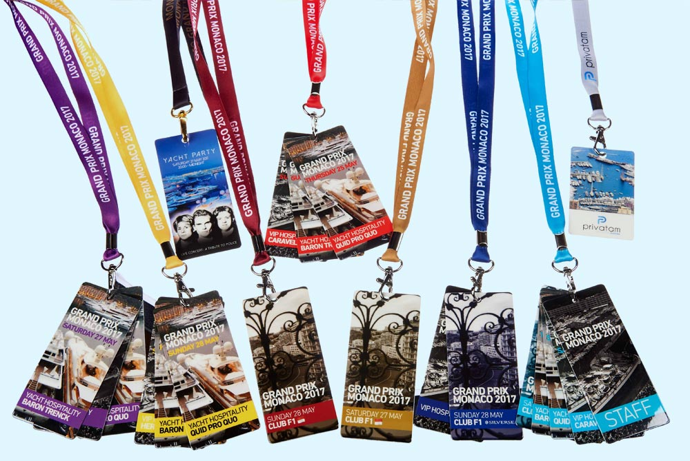 Custom branded lanyards are perfect for company promotions.