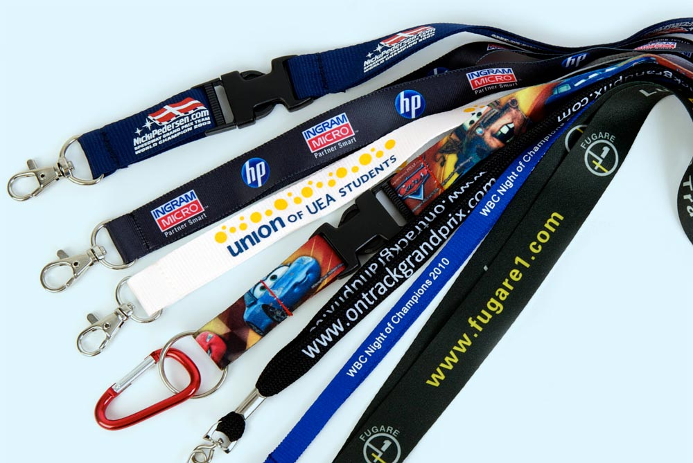 Printed lanyards can be very cost effective when ordered in bulk.