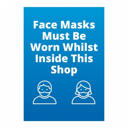 Poster - Face Masks blue