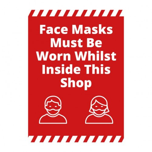 Poster - Face Masks red