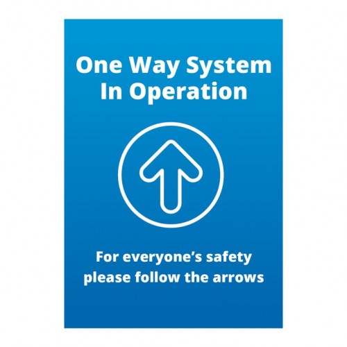 Poster - One Way blue