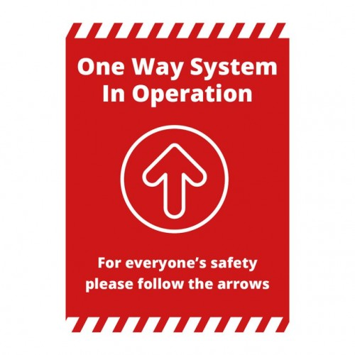 Poster - One Way red