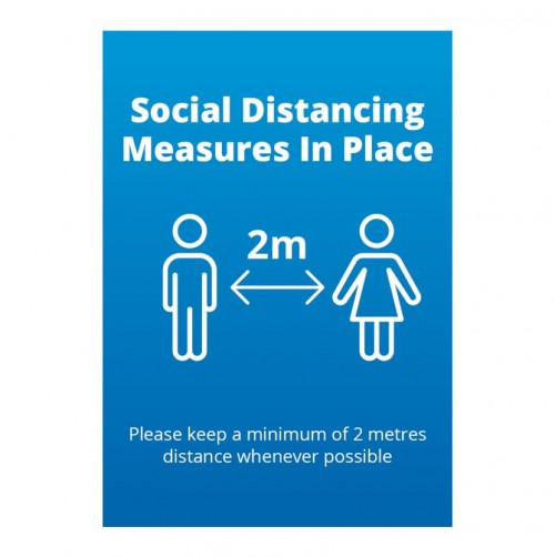 Poster - Social Distancing blue