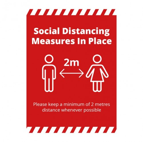 Poster - Social Distancing red