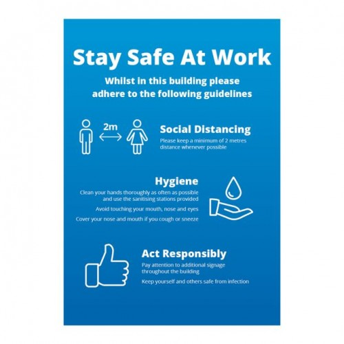 Poster - Stay Safe blue