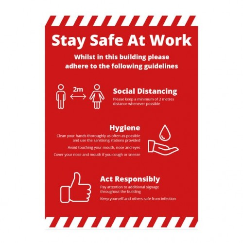 Poster - Stay Safe red