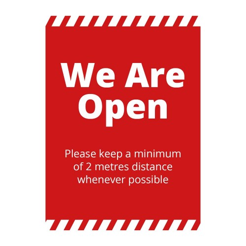 Poster - We Are Open red