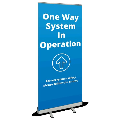 Roller Banner - One Way blue
