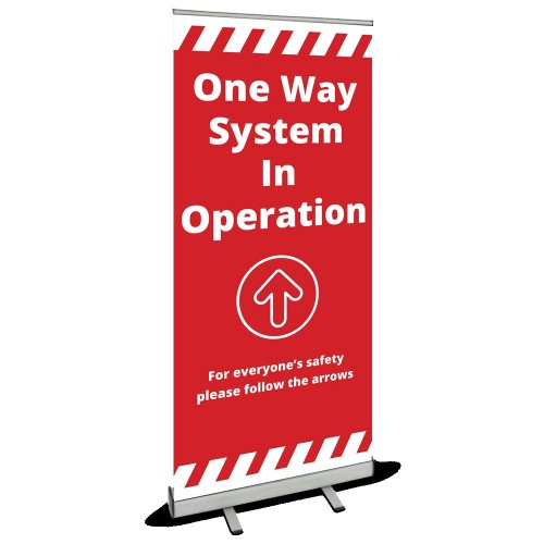 Roller Banner - One Way red
